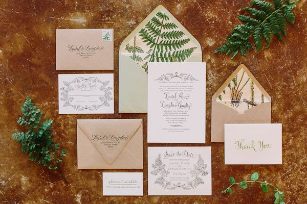 botanical wedding invitation suite | Apryl Ann
