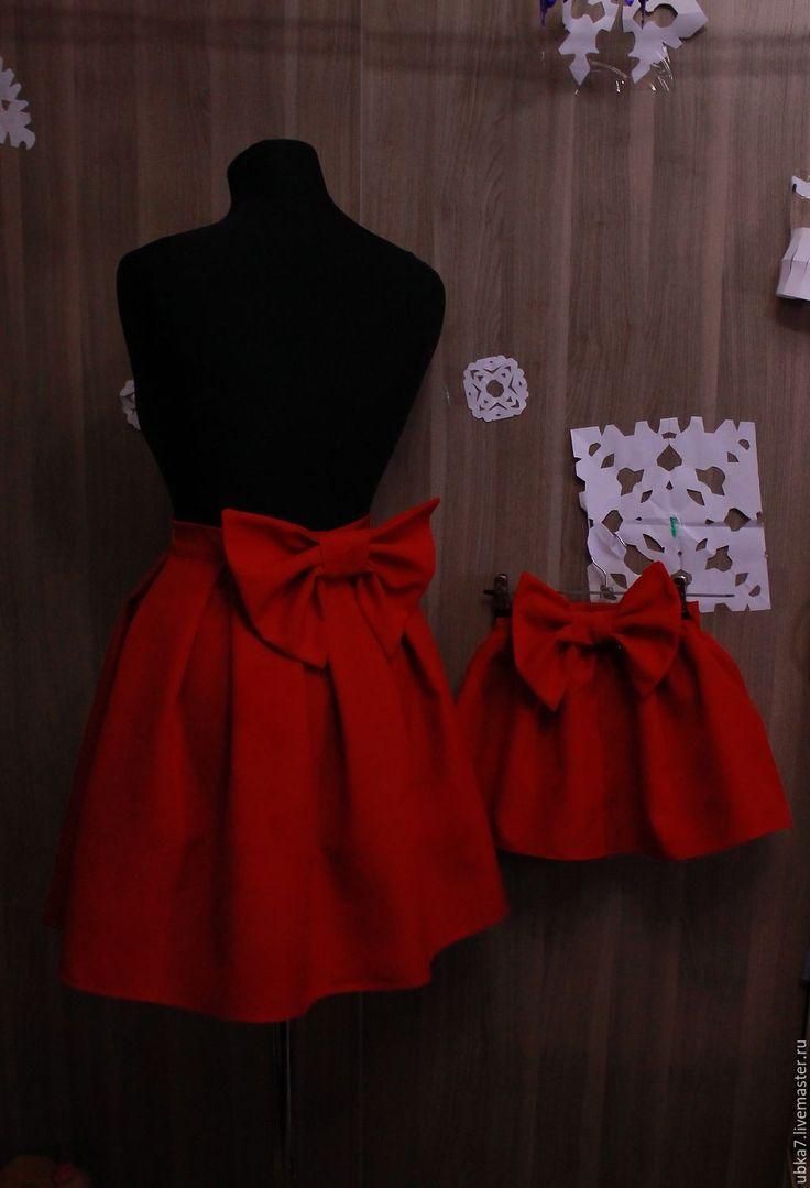 Купить Юбки мама+дочка - комбинированный, юбка, женская одежда, детская одежда, фемили лук, familylook