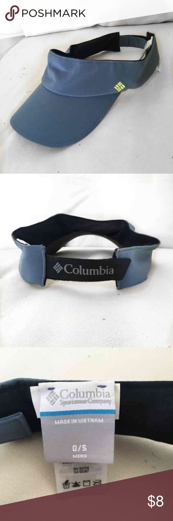Colombia Visor Hat Brand: Colombia   Condition: very good! Only worn once. No flaws!  Color: blueish grey  This hat is unisex colombia Accessories Hats