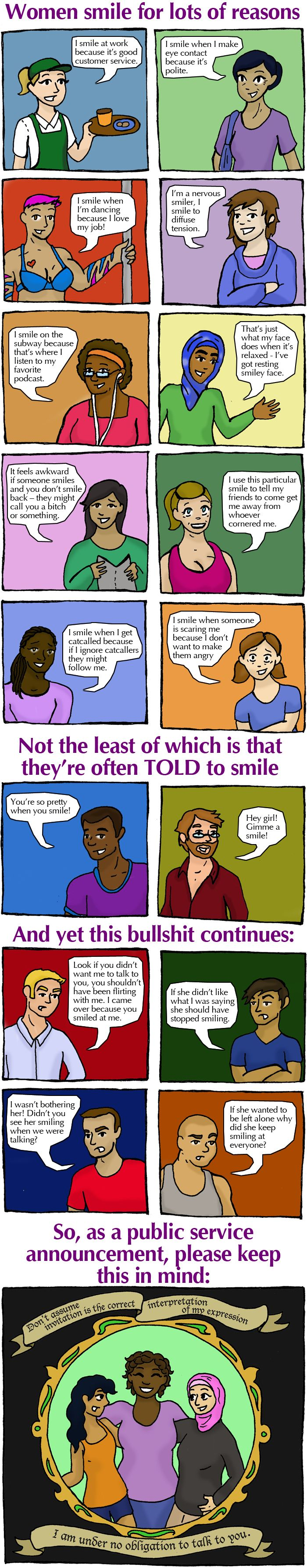 A Smile Isn't an Invitation for Harassment – So Could You Stop, Please? — Everyday Feminism
