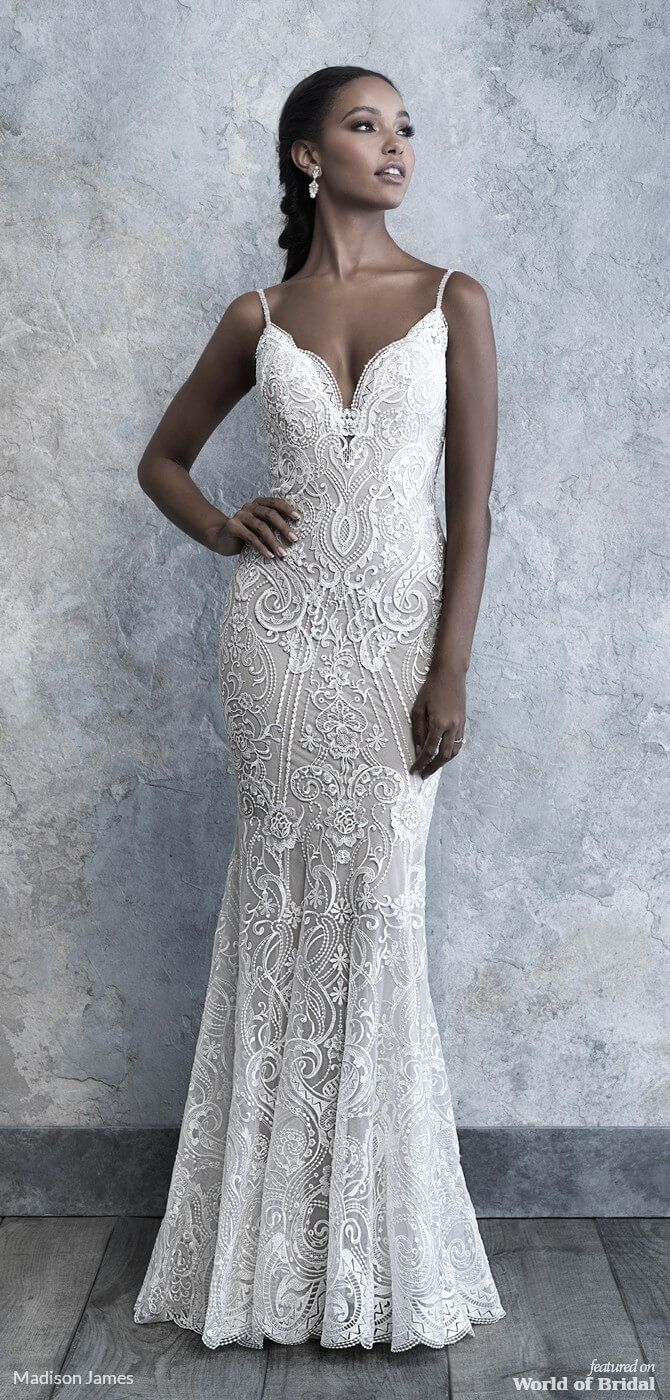 9c9670c7a Scrolled detailing and lace are the highlight of this elegant