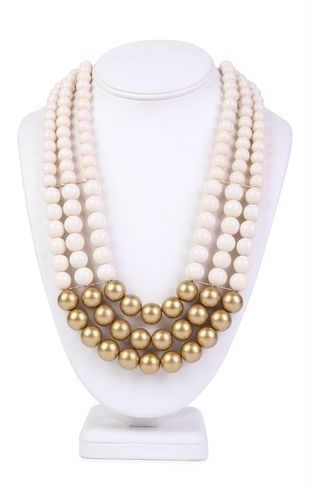 Deb Shops 3 Row Pearl Statement Necklace with Metallic Bottom $8.25Debshops, Accessories Obsession, Accessories Galore, Metals Bottom, Accessories Dreams, Bottom 8 25, Jewelry, Row Pearls, Pearls Statement Necklaces