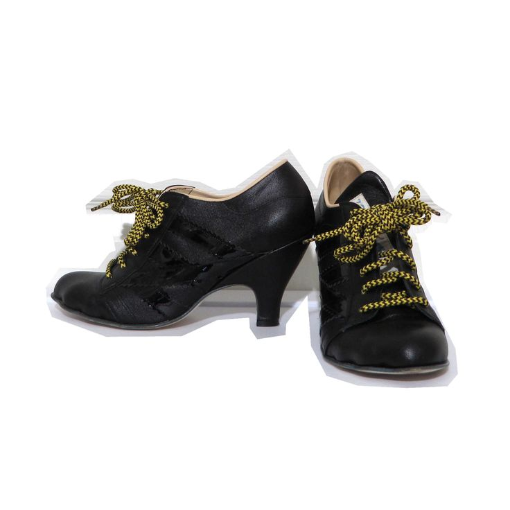 Vivienne Westwood Worlds End Gold Label Tracy Trainers in Black x Black Patent Leather