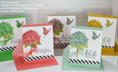 Stampin' Up! Best Thoughts Host Stamp set using the New 2015-2017 In Colors