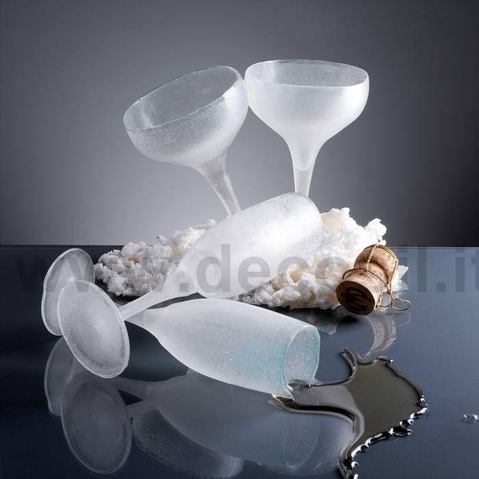 Stampo in silicone per realizzare coppe di champagne di zucchero www.decosil.it