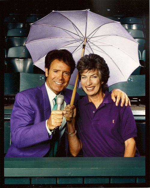 Virginia Wade and Cliff Richard