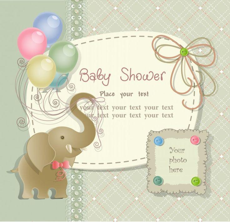21 best 1 images on Pinterest Baby shower invitation cards - best of invitation card vector art