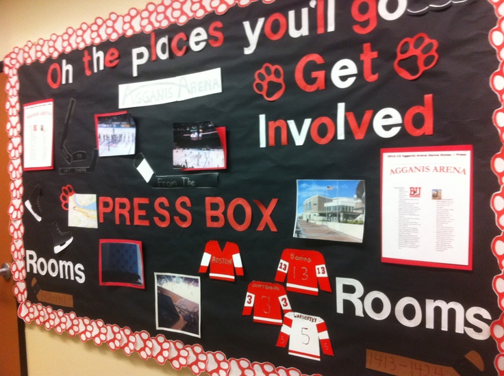 Razorback Classroom Decor : My first bulletin board the theme was your favorite place