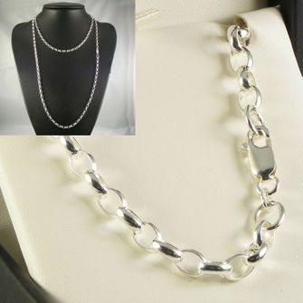 Buy our Australian made Sterling Silver Belcher Chain - MM-BEL-0019 online. Explore our range of custom made chain jewellery, rings, pendants, earrings and charms.