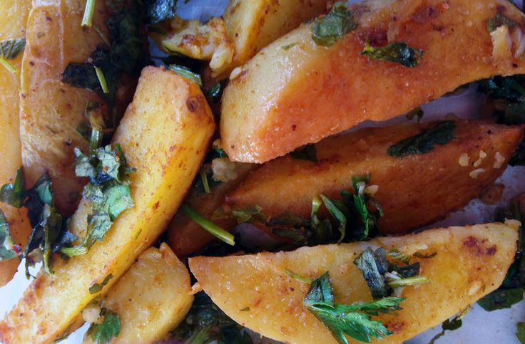 North African Oven Fries Recipe   mostly foodstuffs