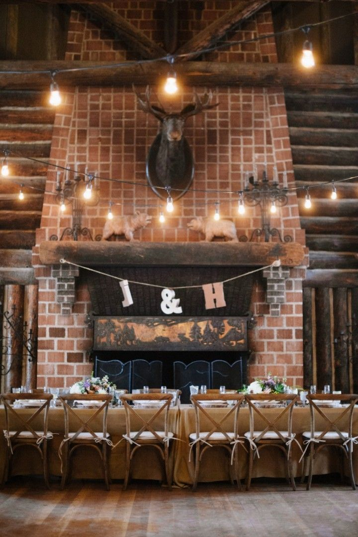 Charming Summer Camp Wedding from Carrie King - wedding reception idea