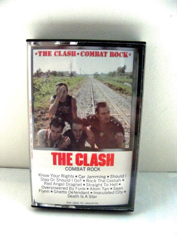 The Clash-Combat Rock Used Cassette Album by joysandtoys on Etsy