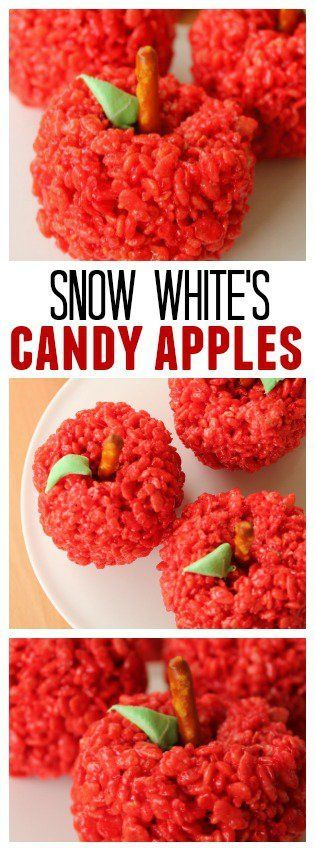 Snow White's Candy Apples - a fun treat idea for a Disney Princess birthday party!