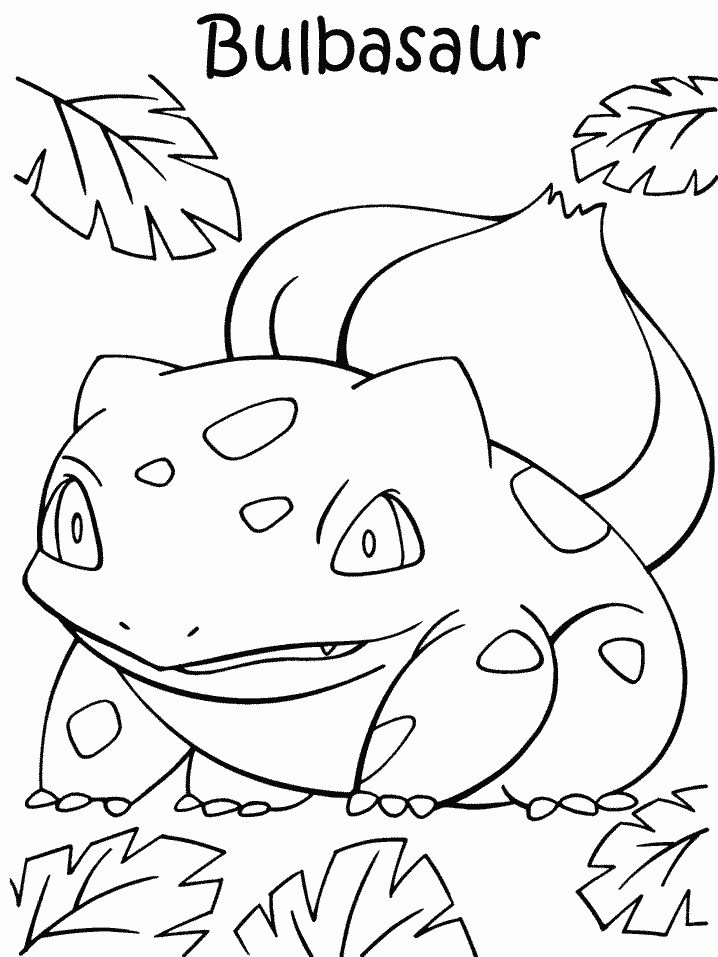 grass type pokemon coloring pages - Grass Type Pokemon Coloring Pages