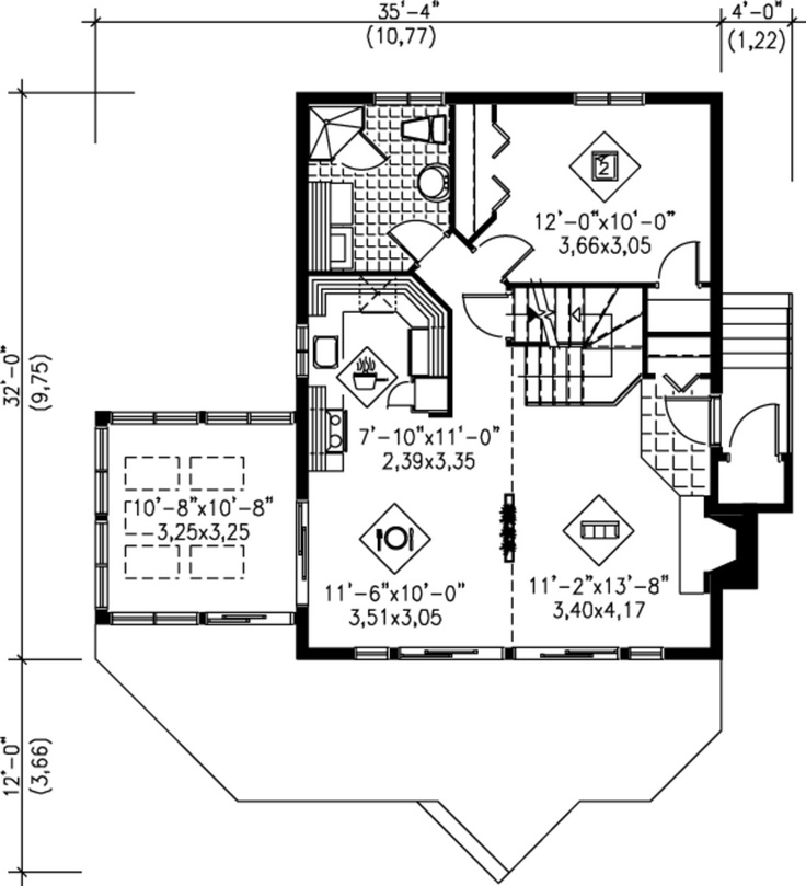193 best in law suite plans images on pinterest floor for Small house plans with mother in law suite