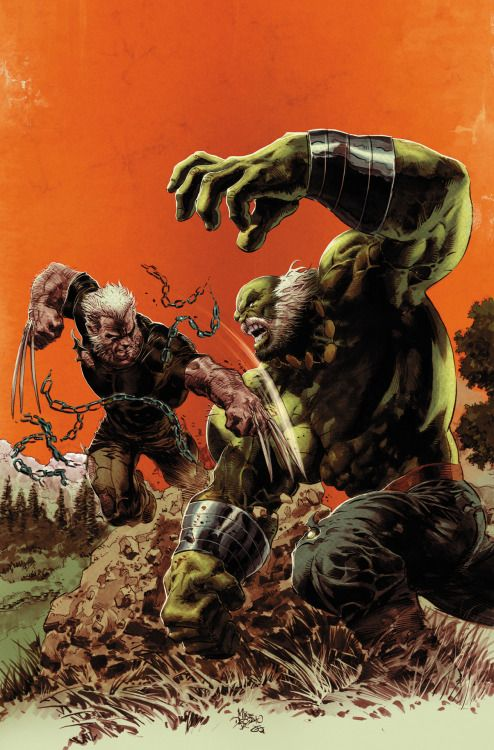 Old Man Logan vs Hulk by Mike Deodato Jr #SecretWars
