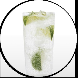 This ones easy, and no helmet necessary! Skinnygirl™ Tackle Tonic  Ingredients:  1 ½ parts Skinnygirl™ Bare Naked Vodka      2 to 3 parts diet tonic water    Directions:  Pour over ice, garnish with a lime wedge.