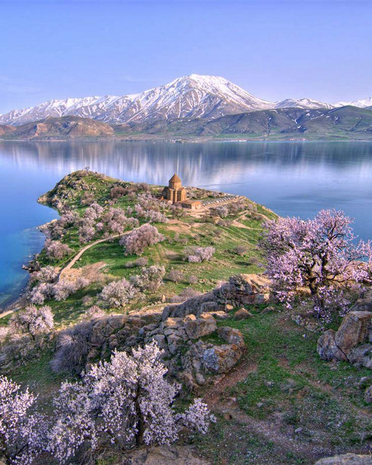 Armenian Church of Surb Khach (Holy Cross), on Aght'amar Island, Lake Van, eastern Turkey