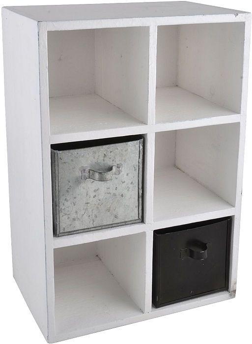Dřevěná skříňka s přihrádkami | Nábytek ATAN