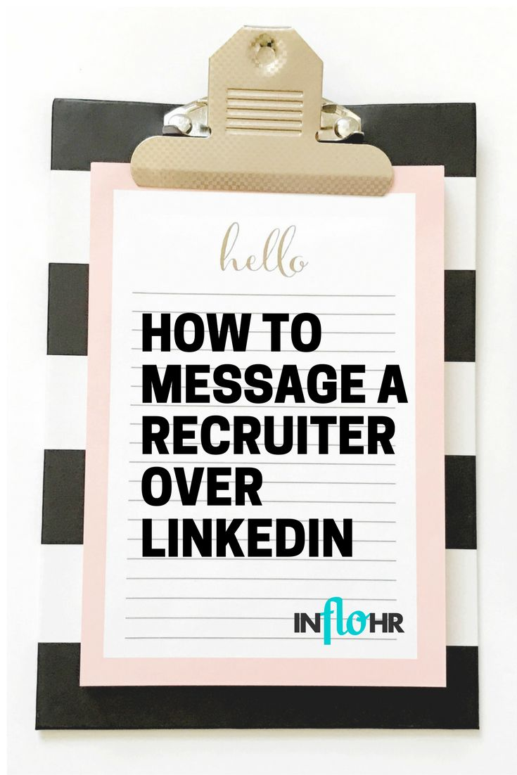 How to message a recruiter over linkedin with images