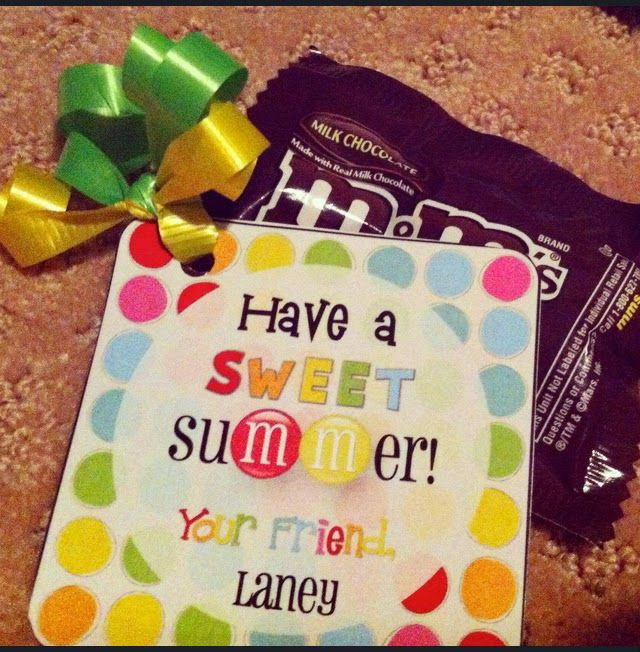 end of school year gifts (Free printables!)….