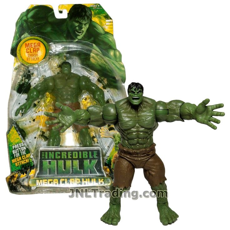 Marvel Year 2008 The Incredible Hulk Movie Series 6 Inch Tall Action Figure Set - MEGA CLAP HULK with Smash Attack