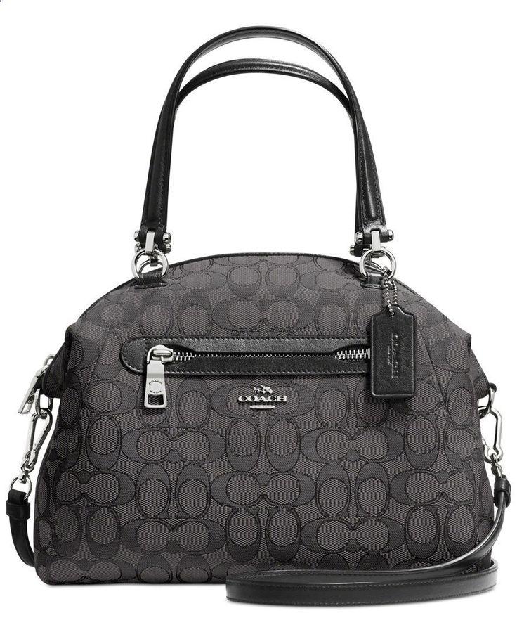 COACH PRAIRIE SATCHEL IN SIGNATURE CANVAS - COACH - Handbags Accessories - Macys