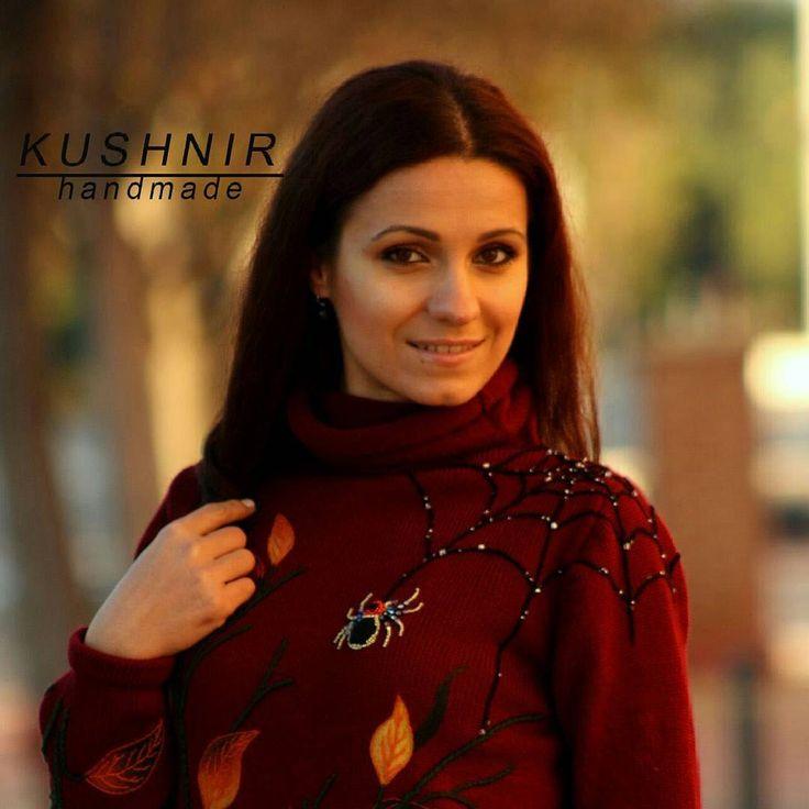 """Рады поделиться с вами новинкой..... Кофта """"Бабье лето"""" доступна к заказу! 😉💖👌#ручнаяработаназаказ #ручнаяработа #kushnir #knitwear #fashion #feltingwool #modafeminina"""