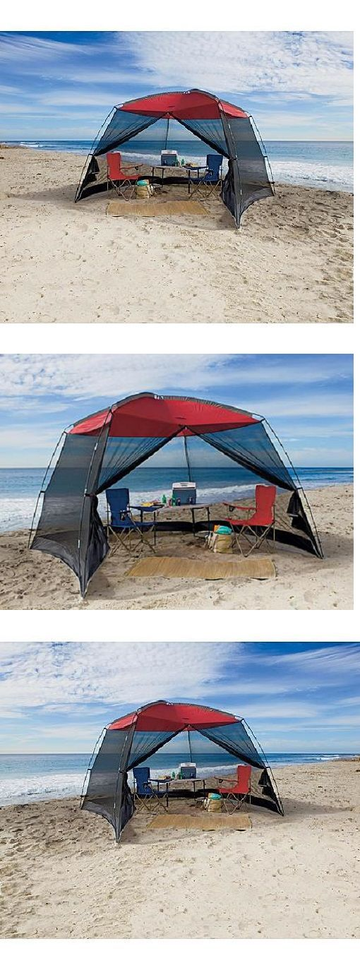 Canopies and Shelters 179011: Beach Tent Shelter Large Screenhouse Sun Shade Canopy 10 X 10 With Mesh Screen -> BUY IT NOW ONLY: $78.99 on eBay!