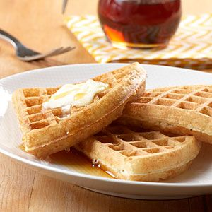 Club Soda Waffles | MyRecipes.com ~ Why wait in line at the diner? Make the perfect waffle in five minutes. You read that right, only five minutes stands between you and this oh-so tasty perfection.
