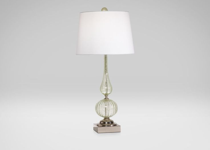 From ethanallen com · seafoam glass table lamp
