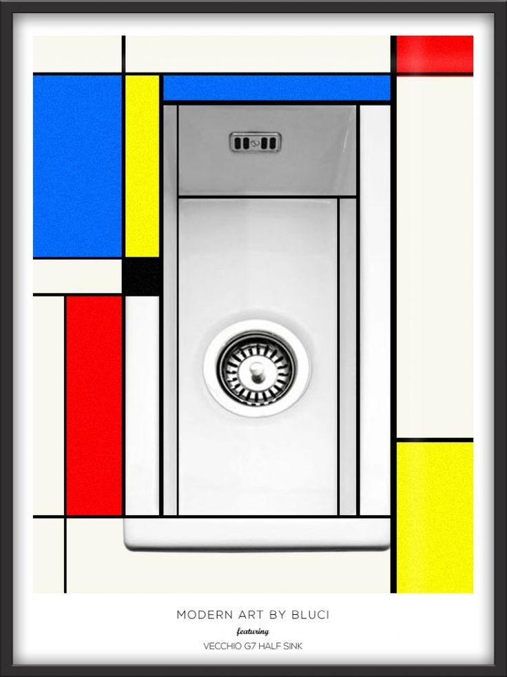 Modern art inspired Mondrian advert for Bluci.com