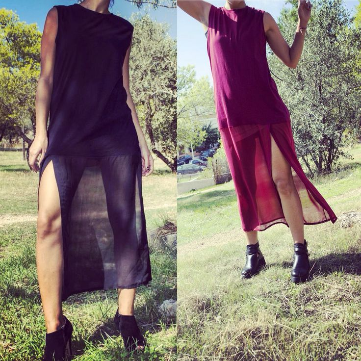 """Maxi dress or long blouse?? Red or black?? Don't care!!!wear it with everything!!!! """"Chic habit"""" gee_whiz!!"""