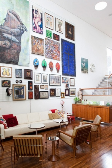 art wall, want this: Wall Art, Large Wall, Photo Wall, Living Room, High Ceilings, Gallery Wall, Art Walls