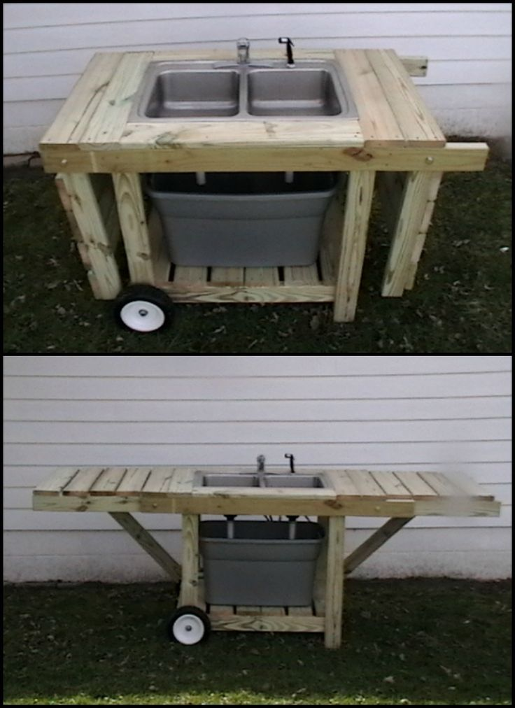 If you feel you're wasting or consuming way too much water in your backyard, then this outdoor garden sink is a great solution for you!  This DIY outdoor garden sink allows you to save and maximise the use of water by reusing the one in the tote below it until it gets too dirty to use again.  Learn more about it by viewing the step-by-step tutorial on our site. :)
