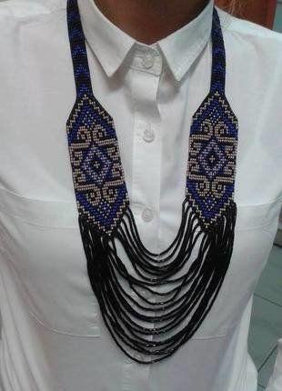 Kup mój przedmiot na #vintedpl http://www.vinted.pl/akcesoria/bizuteria/16691410-naszyjnik-dlugi-krawatka-koraliki-recznie-robione