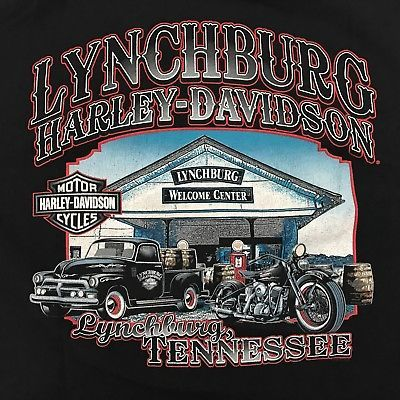 Harley-Davidson Motorcycles T shirt Medium Black Lynchburg, Tennessee