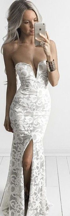 White Lace Gown                                                                             Source