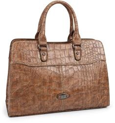 Mock Croc Effect Handbag By David Jones