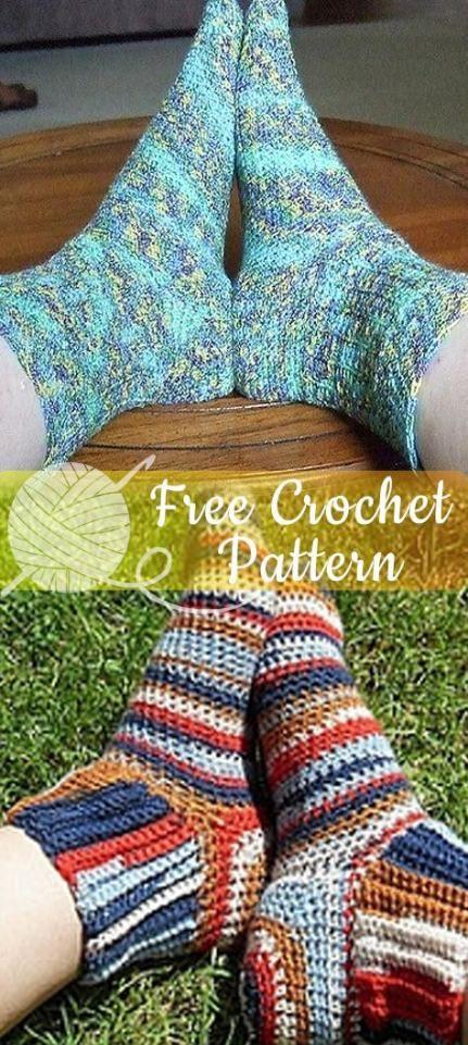Knitting socks free pattern crochet slipper boots 40 Ideas ...