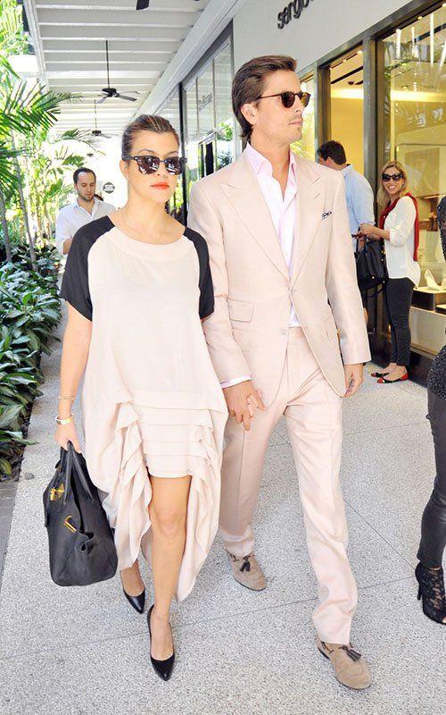 Kourtney Kardashian with Scott Disick 2012