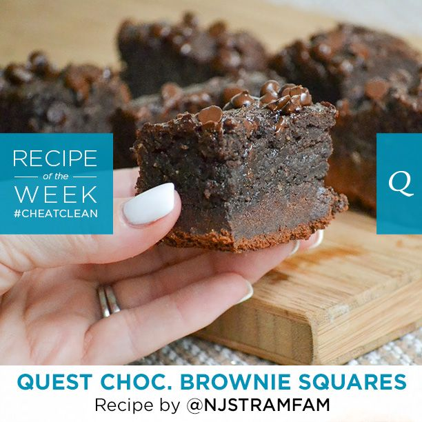 Make the next couple of days a #CheatClean Chocolate weekend! A round of applause to Nicolette S. at@NJSTRAMFAM for this incredible Fan Recipe of the Week for Quest Chocolate Brownie Squares! Each rich, amazingly delicious…
