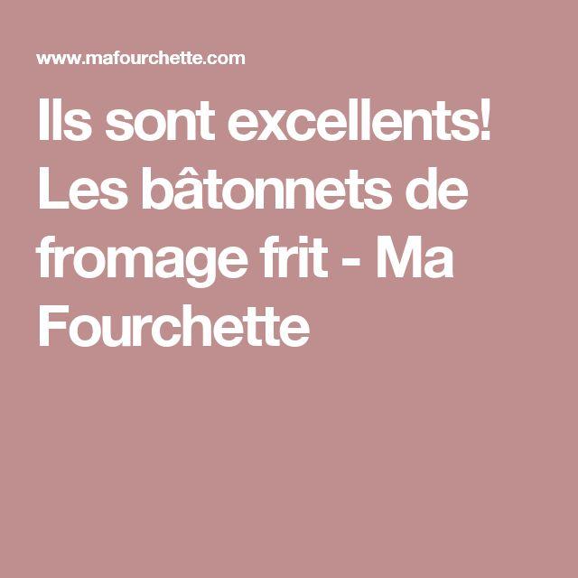 Ils sont excellents! Les bâtonnets de fromage frit - Ma Fourchette