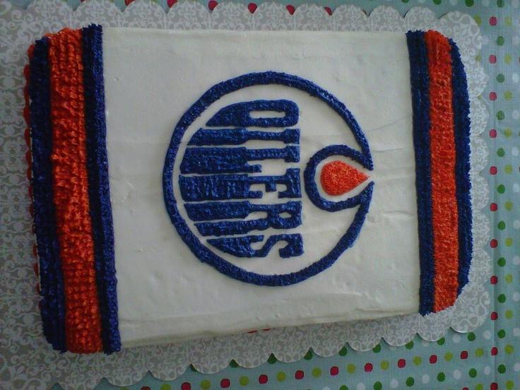 Edmonton Oilers birthday cake  Recipes  Pinterest