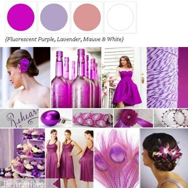 Shades of Purple + White via The Perfect Palette. xo wedding inspiration