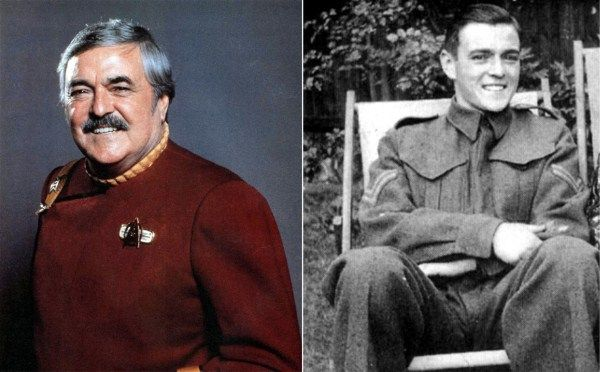 James Doohan, Star Trek's loveable engineer 'Scotty', first gained military experience in the Royal Canadian Army Cadet Corps, then was commissioned as an artillery officer in the Royal Canadian Army at the outbreak of the war in September 1939. He trained in England from 1940, but his first combat mission did not come until 1944 – the historic invasion of Normandy at Juno Beach on D-Day.