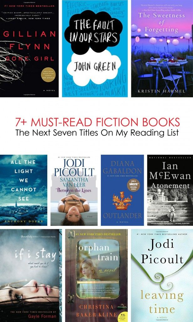 The Next 7 Must-Read Fiction Books On My List... #reading *Great list