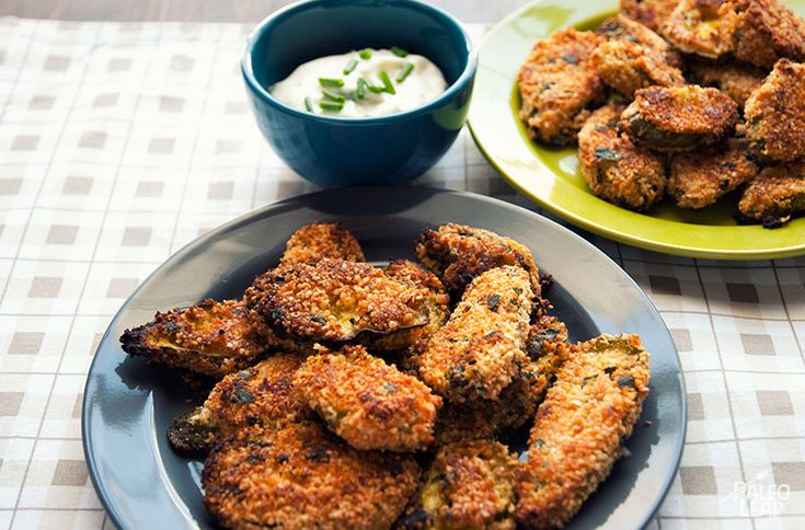 """Oven Fried Pickles! Includes instructions on how to ferment your own pickles, and then how to """"fry"""" them to make the healthy version!"""
