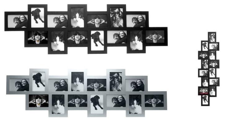 Lijst voor 14 foto's van 19x15cm.  € 85,- Zwart of Zivergrijs.