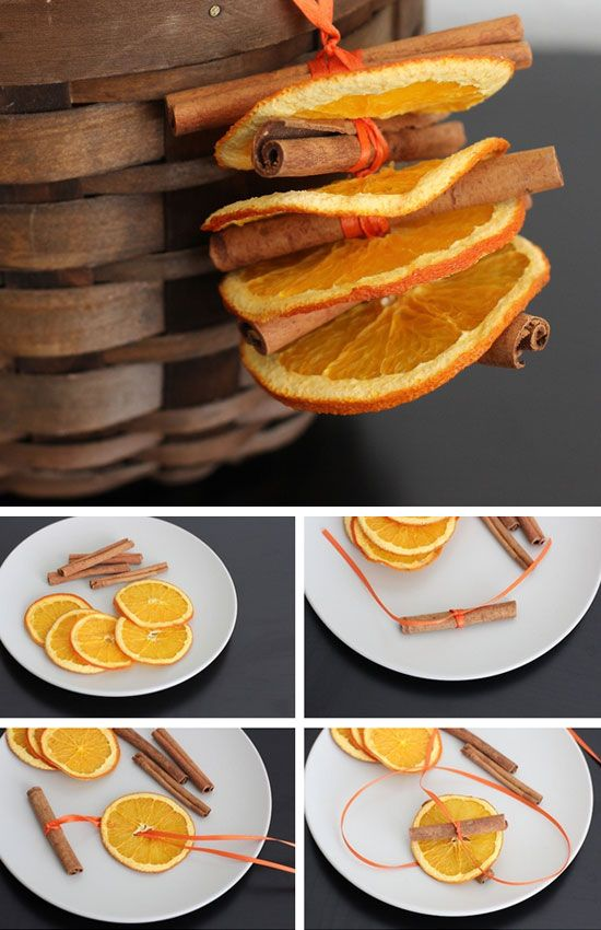Dried Orange and Cinnamon Ornaments | 35 DIY Fall Decorating Ideas for the Home | Fall Craft Ideas for Adults